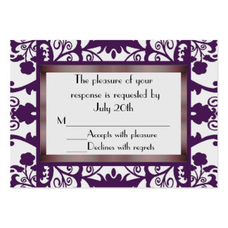Mini Wedding Response Cards Business Card Template