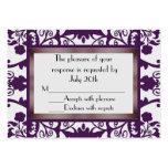 Mini Wedding Response Cards Business Card Template