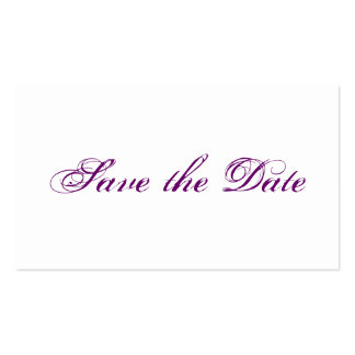 Mini wedding save the DATE cards in PUR-polarizes Business Card