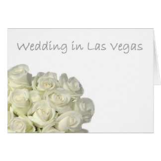 "Mini White Roses  ""Wedding in Las Vegas""  Card"