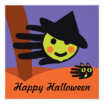 Hand shaped Mini Witch Card