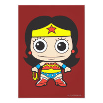 batman, cat woman, superman, wonder woman, batgirl, flash, kids, party, birthday, invitations, dc comics, justice league, chibi super heroes, japanese toy cartoon, Invitation with custom graphic design