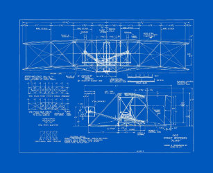 Blueprint wrapping paper zazzle flyer blueprint pattern 1903 wrapping paper malvernweather Gallery
