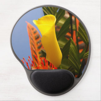 mini yellow calla lilies gel mouse pad