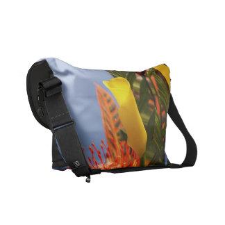 mini yellow calla lilies courier bag