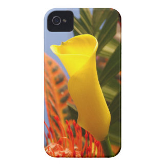 mini yellow calla lily Case-Mate iPhone 4 case