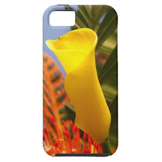 mini yellow calla lily iPhone SE/5/5s case