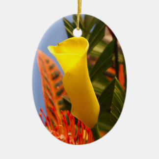 mini yellow calla lily ornament