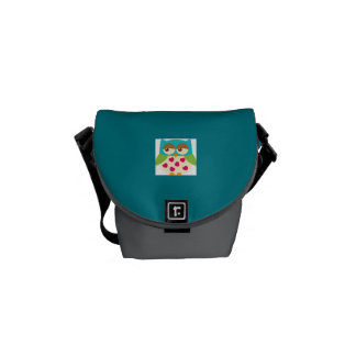 Mini Zero Messenger Bag- Baby Girl Owl Courier Bag
