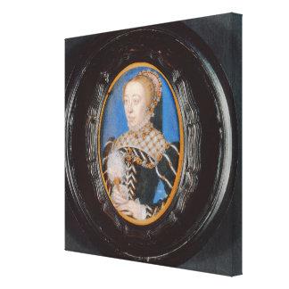 Miniatura de Catherine de Medici, c.1555 (w/c en v Lona Envuelta Para Galerias