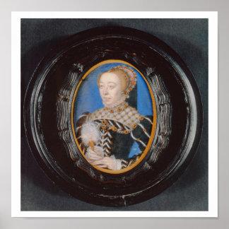 Miniatura de Catherine de Medici, c.1555 (w/c en v Póster