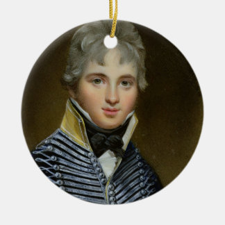 Miniatura de Guillermo Howe de Lancey (d.1815), Adorno Navideño Redondo De Cerámica