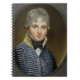 Miniatura de Guillermo Howe de Lancey (d.1815), ma Libros De Apuntes Con Espiral