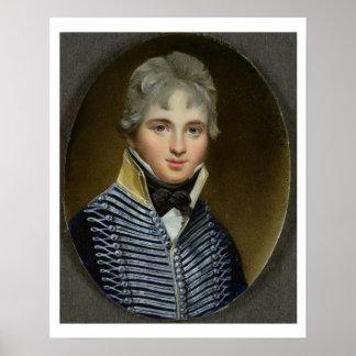 Miniatura de Guillermo Howe de Lancey (d.1815), ma Póster