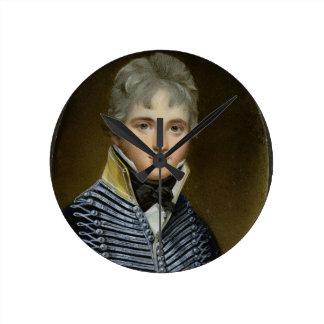 Miniatura de Guillermo Howe de Lancey (d.1815), ma Reloj Redondo Mediano