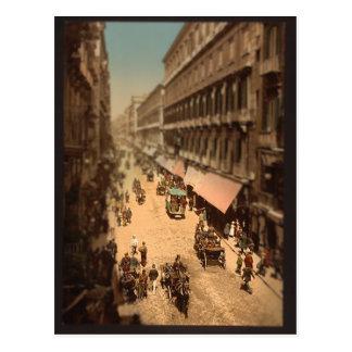 Miniatura de la escena de la calle de Nápoles Tarjetas Postales