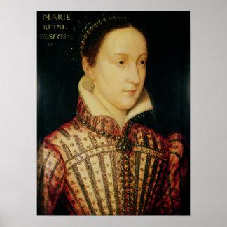 Miniatura de la reina de Maria de escocés, c.1560 Póster
