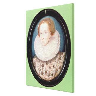 Miniatura de la reina Elizabeth I Impresión En Lona