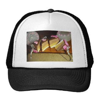 Miniatura de la torta de la cereza gorros bordados