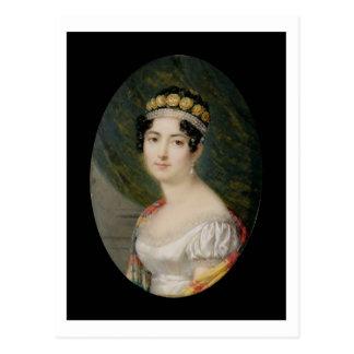 Miniatura del retrato de la emperatriz Josephine Postales