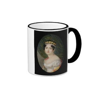 Miniatura del retrato de la emperatriz Josephine Taza De Dos Colores