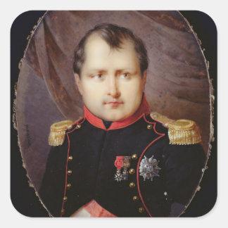Miniatura del retrato T34002 de Napoleon I Pegatina Cuadrada