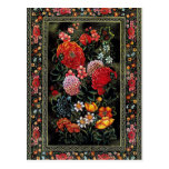 Miniatura floral de gran colorido del arte persa postales