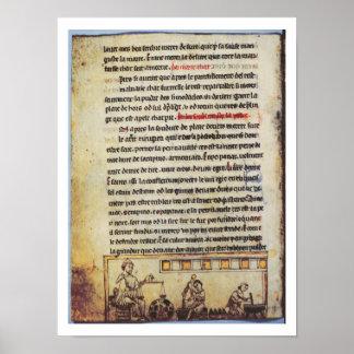 "Miniatura inglesa, ""Medica"", ilustrando un apoth Impresiones"
