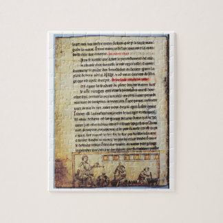 "Miniatura inglesa, ""Medica"", ilustrando un apoth Puzzles"