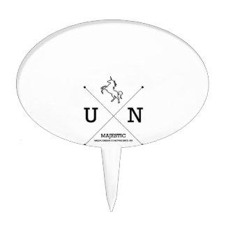 Miniatura majestuosa del escudo del unicornio X Figura Para Tarta