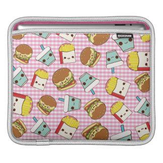 Miniaturas de los alimentos de preparación rápida fundas para iPads