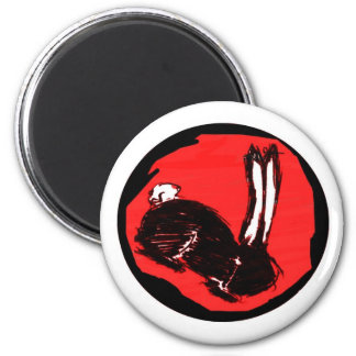 Miniaturas del logotipo de Blackrabbit Imán Redondo 5 Cm