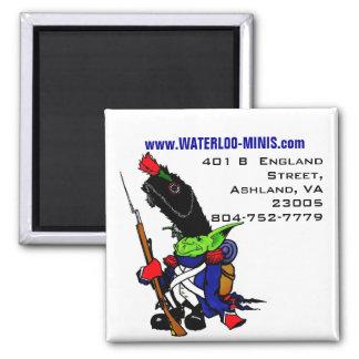 Miniaturas Magnent de Waterloo Imán Cuadrado