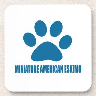 MINIATURE AMERICAN ESKIMO DOG DESIGNS DRINK COASTER