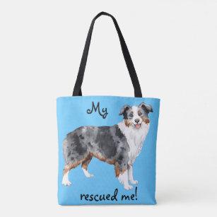 Miniature American Shepherd Rescue Tote Bag
