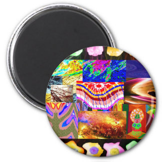 Miniature ART Collage : Ideal GIFT Collection Magnet