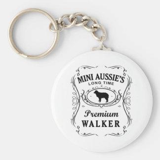 Miniature Australian Shepherd Basic Round Button Keychain