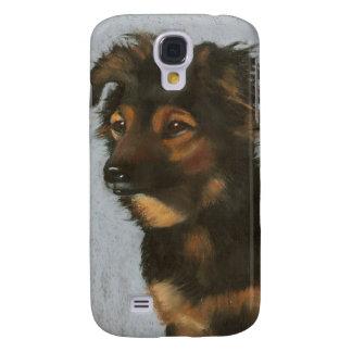 Miniature Australian Shepherd Dog: Oil Pastel Art Samsung S4 Case