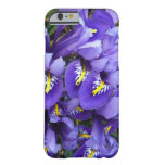 Miniature Blue Irises Spring Floral Barely There iPhone 6 Case