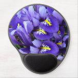 Miniature Blue Irises Spring Floral Gel Mouse Pad