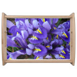 Miniature Blue Irises Spring Floral Serving Tray
