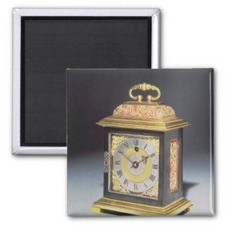 Miniature bracket clock 2 inch square magnet