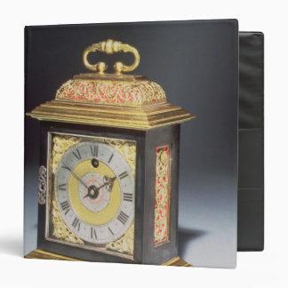 Miniature bracket clock binder