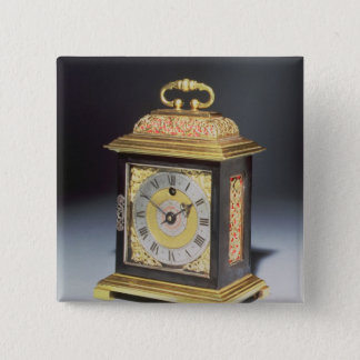 Miniature bracket clock pinback button