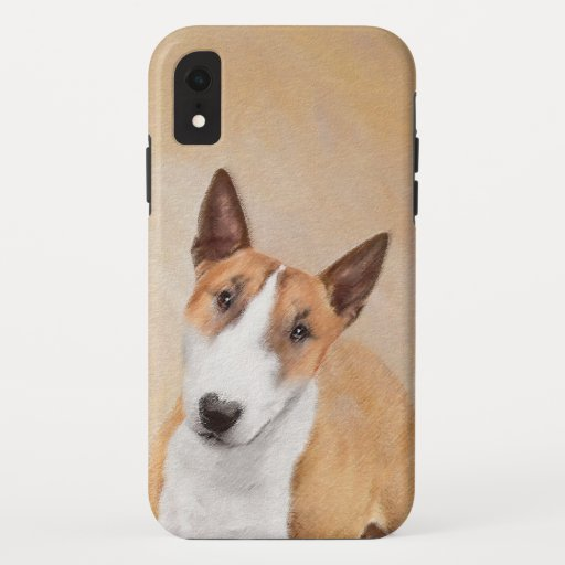Miniature Bull Terrier Painting - Cute Original Do iPhone XR Case