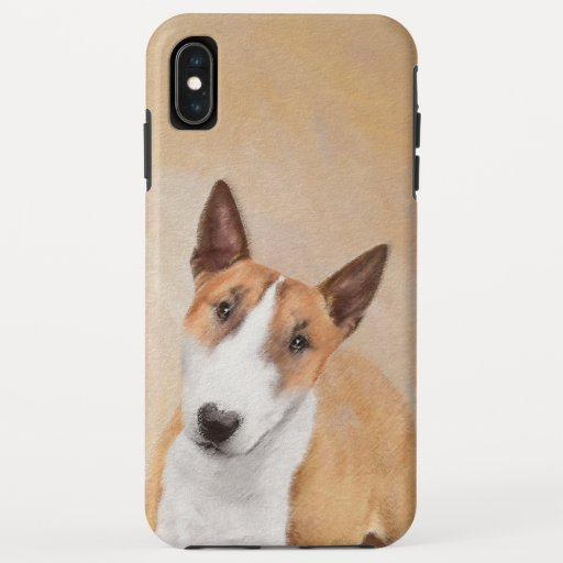 Miniature Bull Terrier Painting - Cute Original Do iPhone XS Max Case