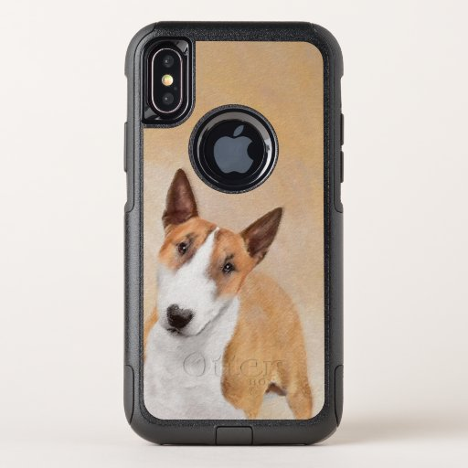 Miniature Bull Terrier Painting - Cute Original Do OtterBox Commuter iPhone XS Case