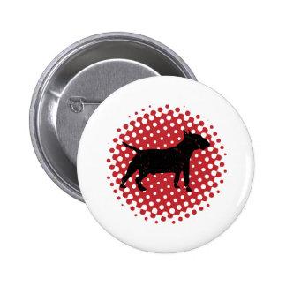 Miniature Bull Terrier Pinback Button