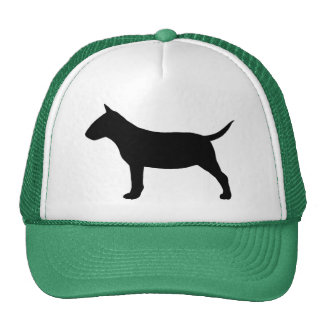 Miniature Bull Terrier Silhouette Trucker Hat