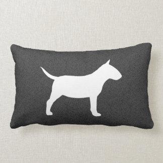 Miniature Bull Terrier Silhouette Throw Pillow
